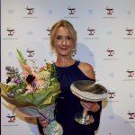 Anette Støvelbæk modtager Lauritzen-prisen 2021. Pressefoto: Carsten Lundager.